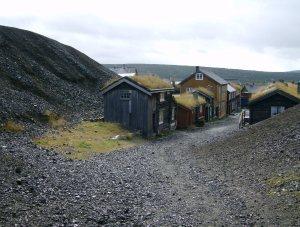 Bergarbeiterhütten in Röros