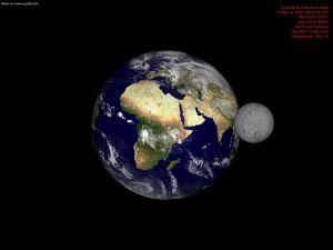 Die Erde vom Mars gesehen - CC-BY-Planet aus dem All